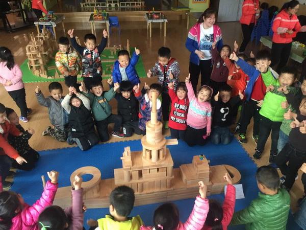 惠济区花园口幼儿园开展教师建构游戏比拼活动