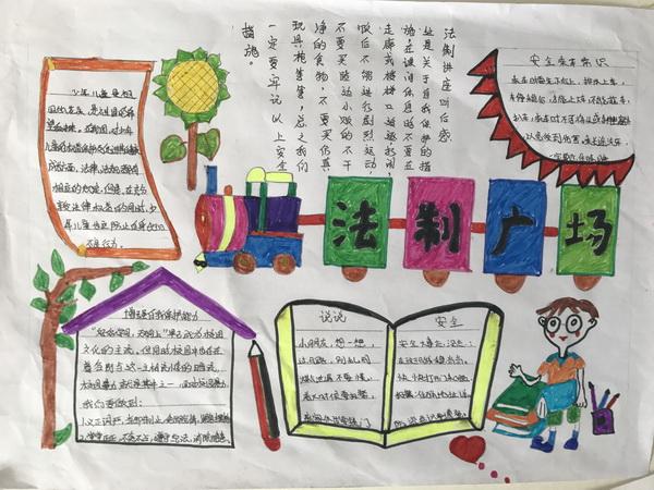 惠济区师家河小学在12月4日组织了小学生制作法制安全教育手抄报比赛.